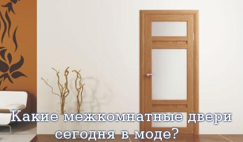 Какие межкомнатные двери сегодня в моде?