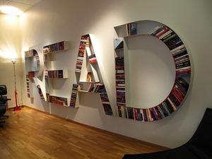 Креативные полки для книг