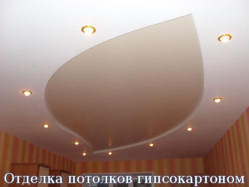 Отделка потолков гипсокартоном