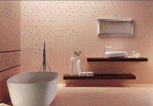 Розовые тона для ванной