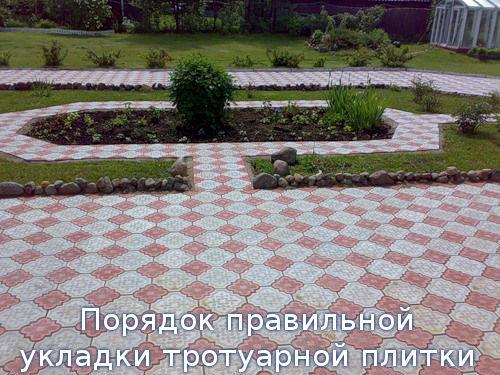 Порядок правильной укладки тротуарной плитки